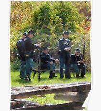 Group of Union Soldiers Poster