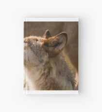 Wolf enjoying the sun Hardcover Journal