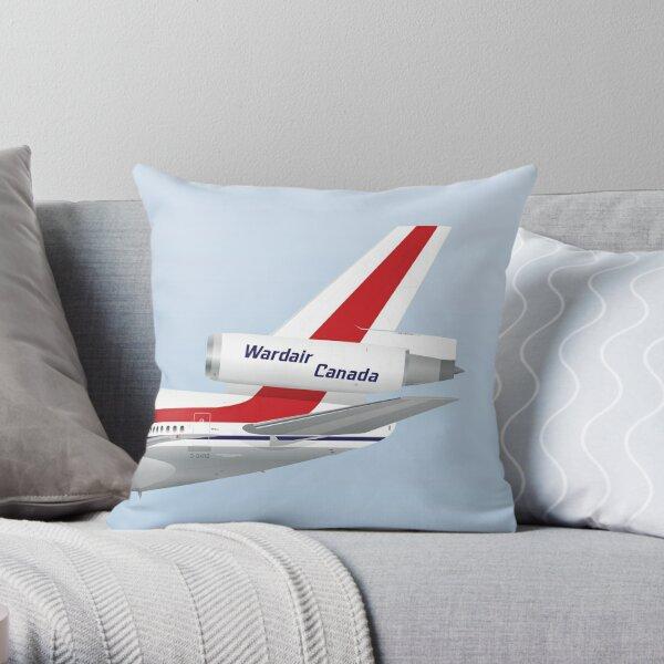 Wings In Uniform - DC-10 - Wardair Canada Throw Pillow