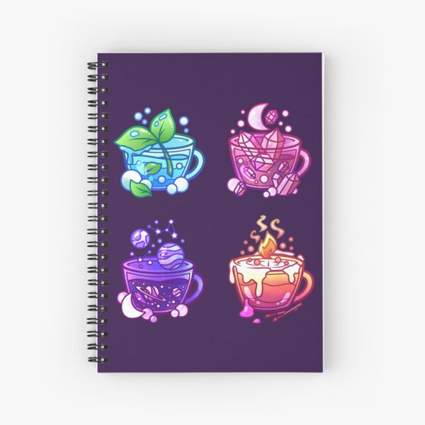 Aesthetic Teacup Collection Spiral Notebook