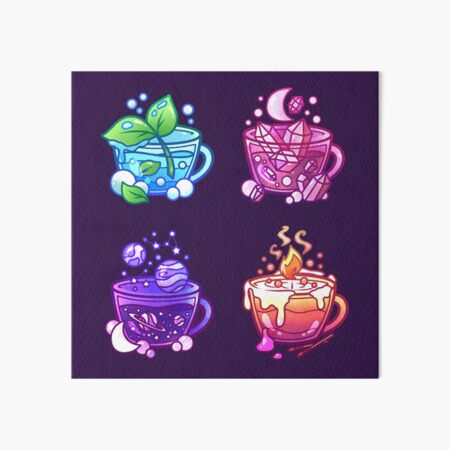 Aesthetic Teacup Collection Art Board Print