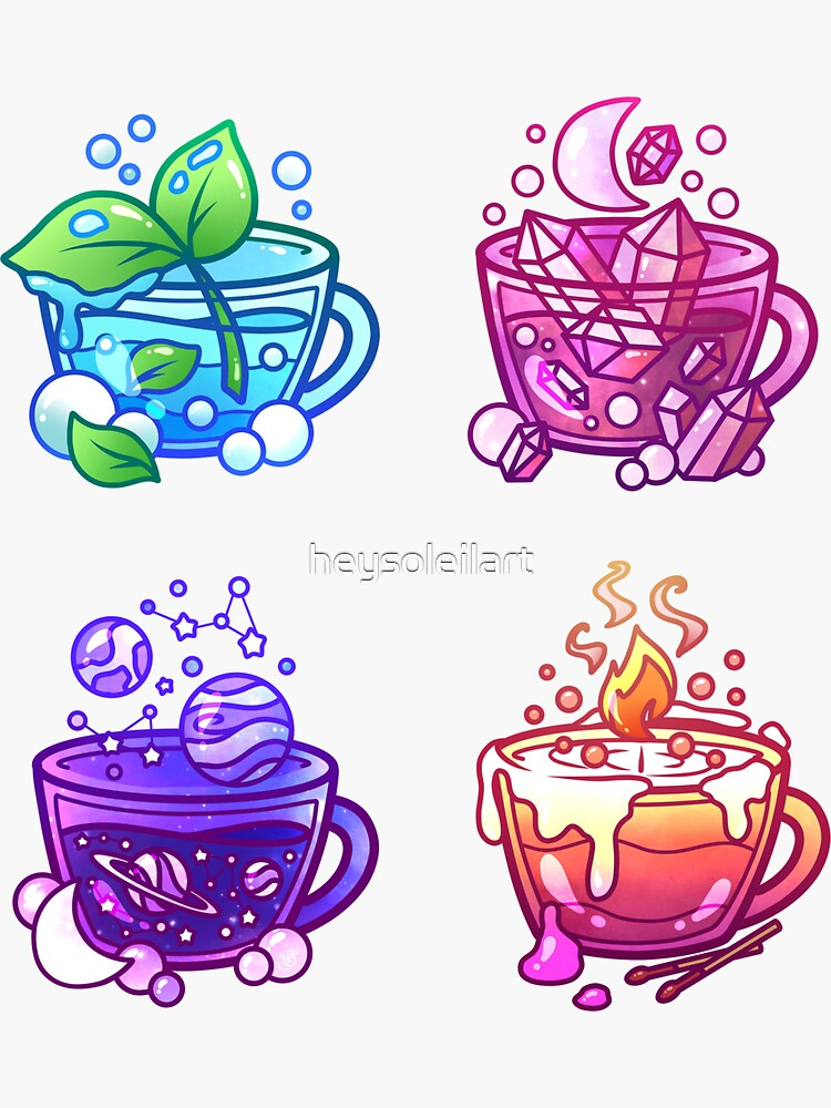 Aesthetic Teacup Collection by heysoleilart