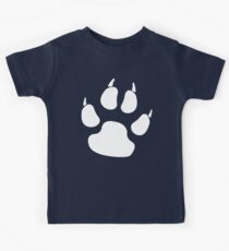 PAW, FOOT PRINT, DOG, CANINE, WHITE PAW, PADS, CLAWS, Cats Paw, Catspaw, Dog Paw, Cat, Dog, Pet, foot, track, scratch Kids Clothes