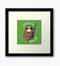Slow sloth Framed Print