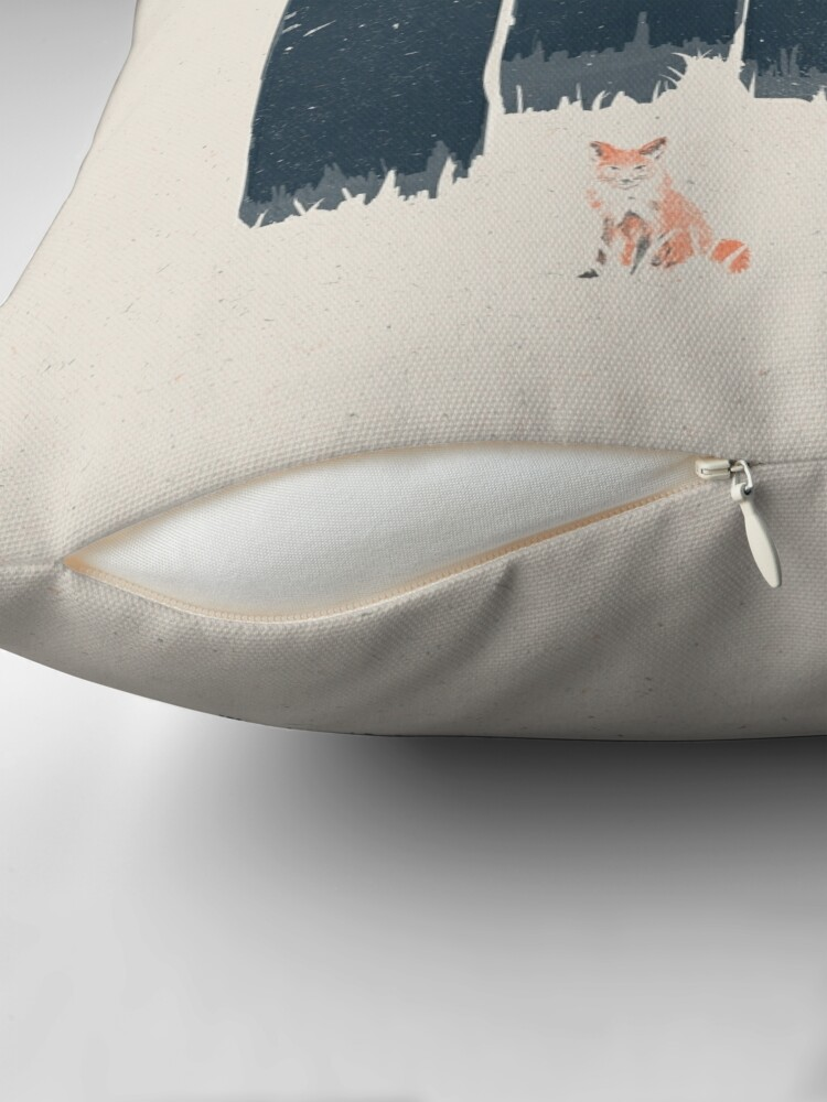 Alternate view of A Fox in the Wild... Throw Pillow