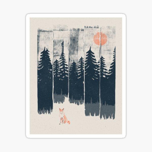 Ein Fuchs in der Wildnis ... Sticker