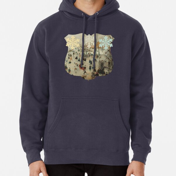 Holiday Ice Skating Rijks Museum Collection Pullover Hoodie