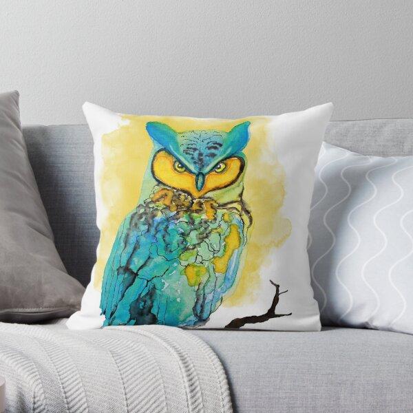 Dreamy Owl Throw Pillow