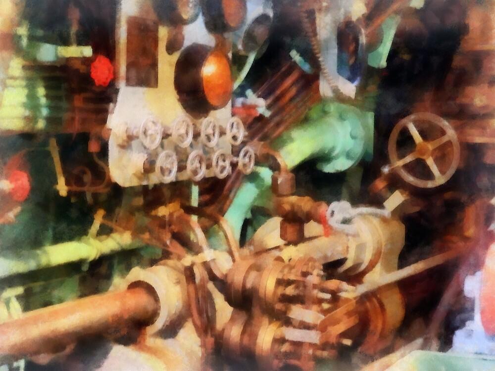 Steampunk - Torpedo Controls by Susan Savad