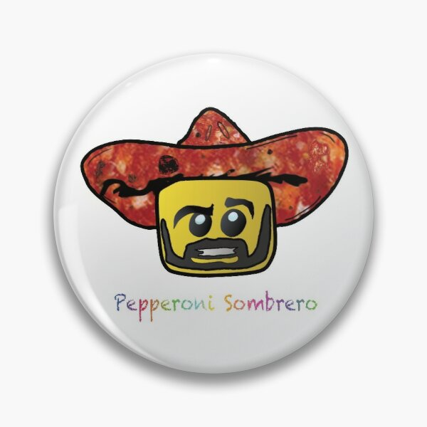 Pepperoni Sombrero Pin