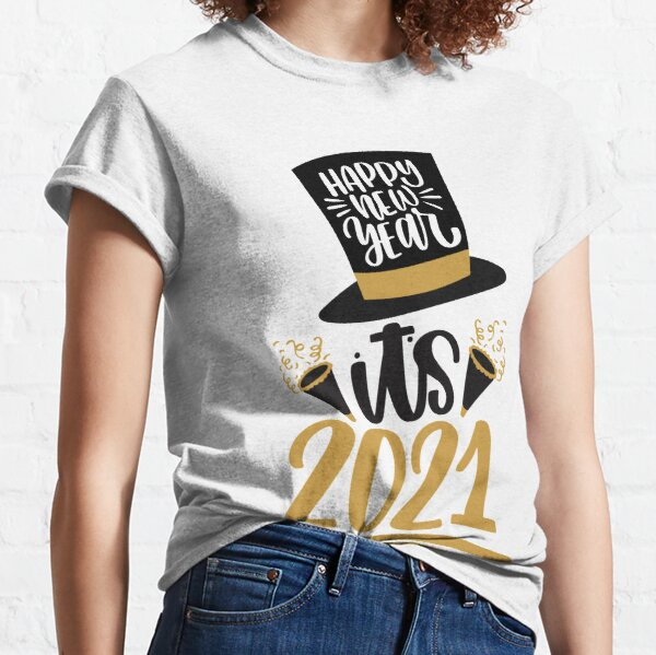New Years Sayings Thank God It/'s Finally 2021 White and Black Soft Cotton Cozy T-Shirt New Years Design Unisex Tshirt Winter Design