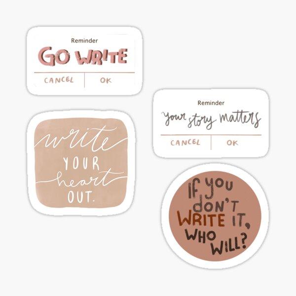 Writing Reminders Sticker Set Sticker
