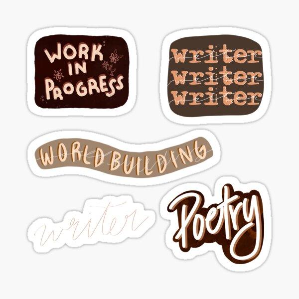 Writer Sticker Set Sticker
