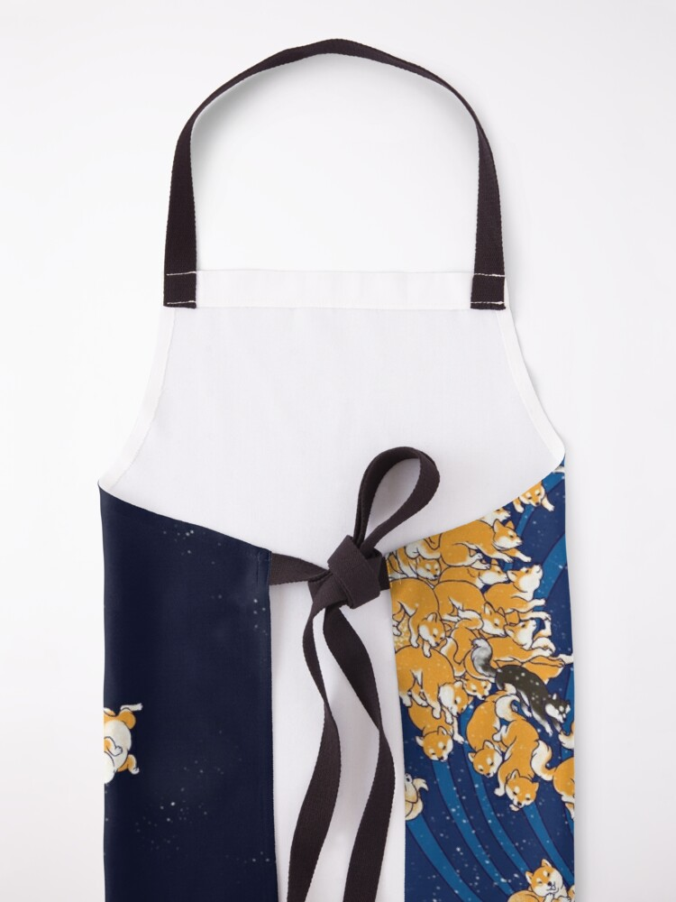 Alternate view of Shiba Inu The Great Wave in Night Apron