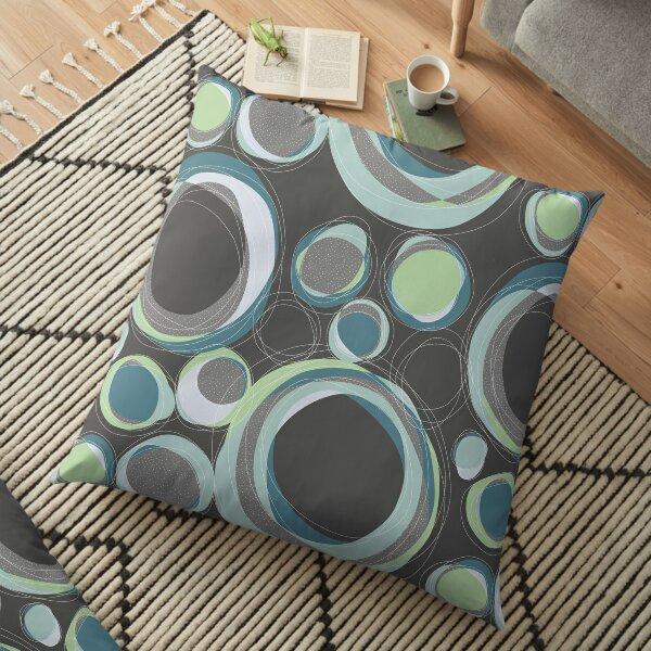 Cut Circles, Dark Ocean Floor Pillow