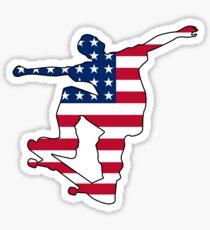 American flag skateboard Sticker