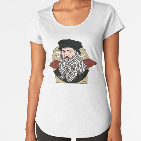 Leonardo Da Vinci  Camiseta premium de cuello ancho