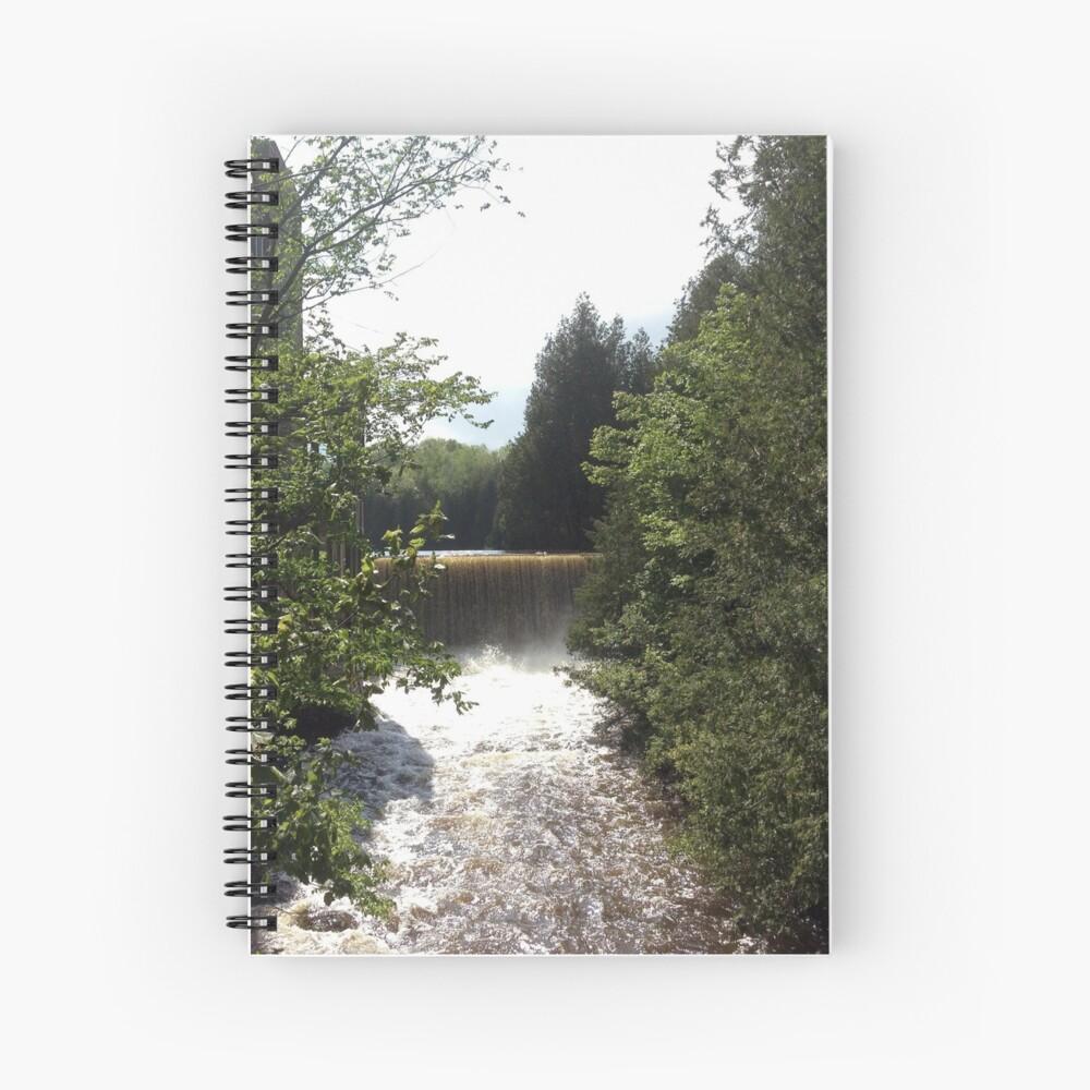 Nature, Water, Forest, Bathroom decor, Forest sticker, Forest magnet,  Spiral Notebook
