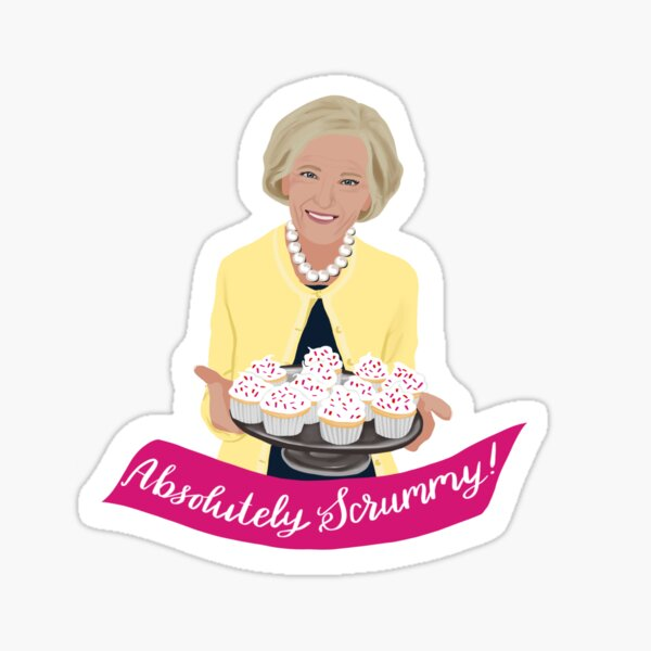 Mary Berry on the Great British Bake Off Sticker
