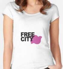 Free City Pink Dove Women's Fitted Scoop T-Shirt