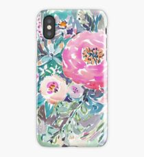 WILD PEONY FLORAL iPhone Case
