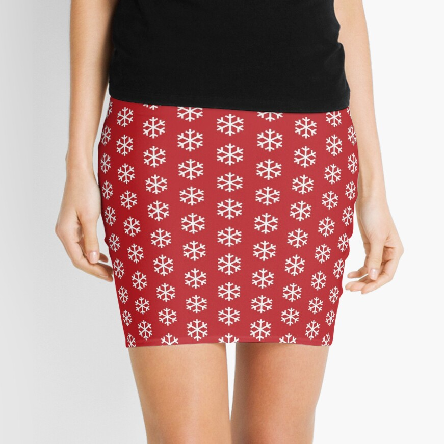 Christmas Snowflake Mini Skirt