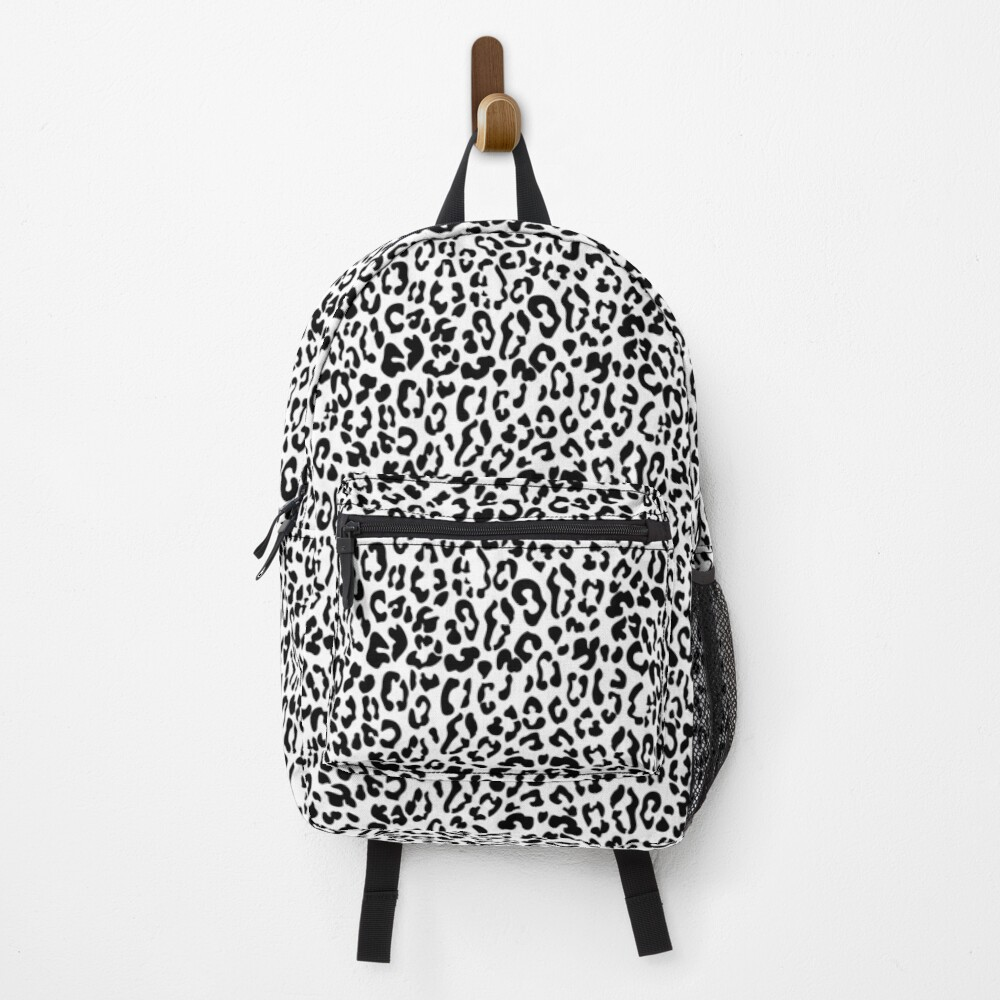 Trendy Black and White Leopard Print Seamless Pattern Backpack