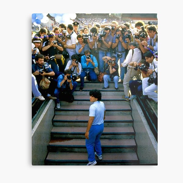Under Pressure Maradona Pers Metal Print