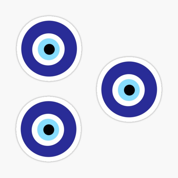 evil eye sticker pack Sticker