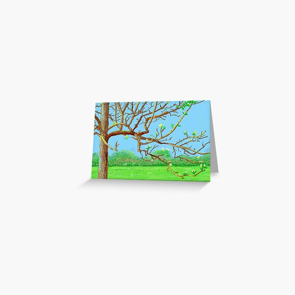 flower on the trees Greeting Card