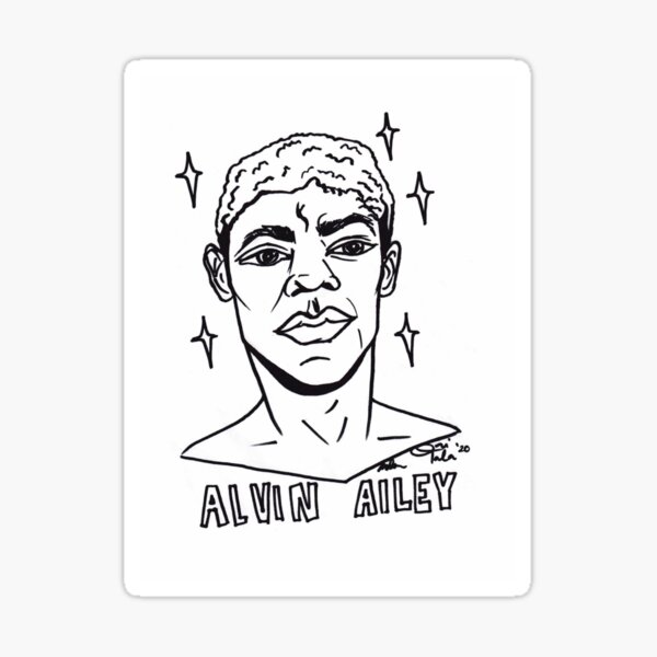 Color Your Own Black Legendary, Alvin Ailey Sticker