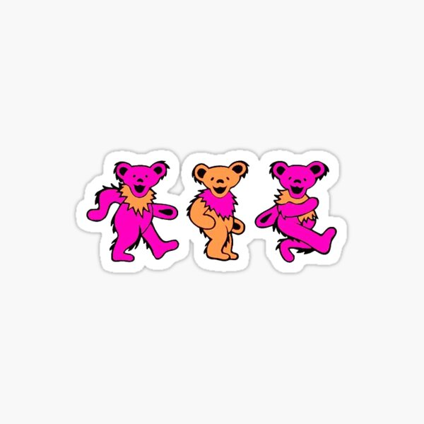 Pink walking bears Sticker