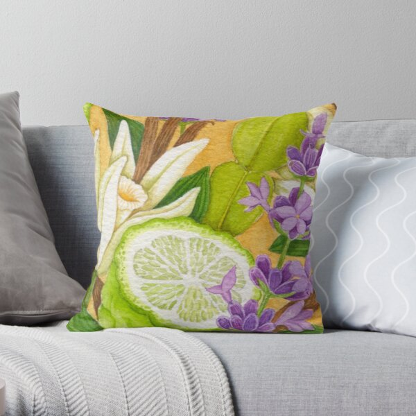 What's in Your Tea No 3 Throw Pillow