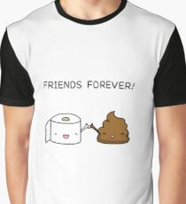 Friends Forever - Poop and Toilet roll Graphic T-Shirt