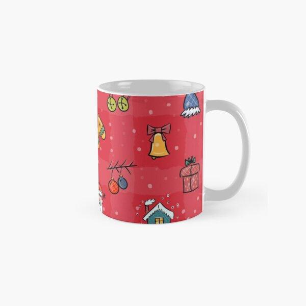 Whimsy Christmas icons - Red Classic Mug