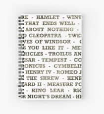 Shakespeare Plays  Spiral Notebook