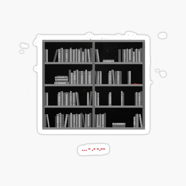 Interstellar Bookshelf Sticker