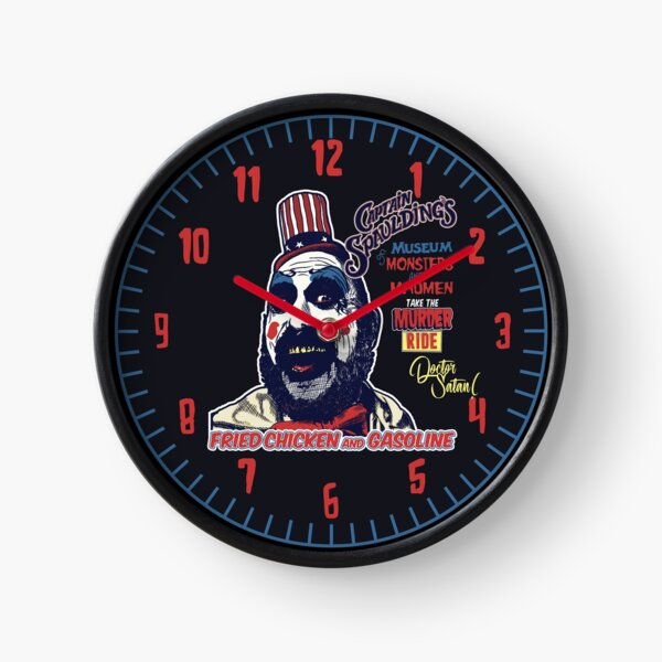 Captain Spaulding's Museum of Monsters and Madmen Clock