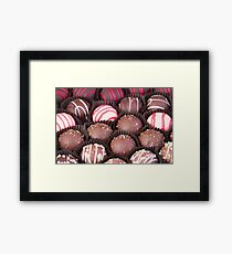 Chocolate Truffles Galore Framed Print