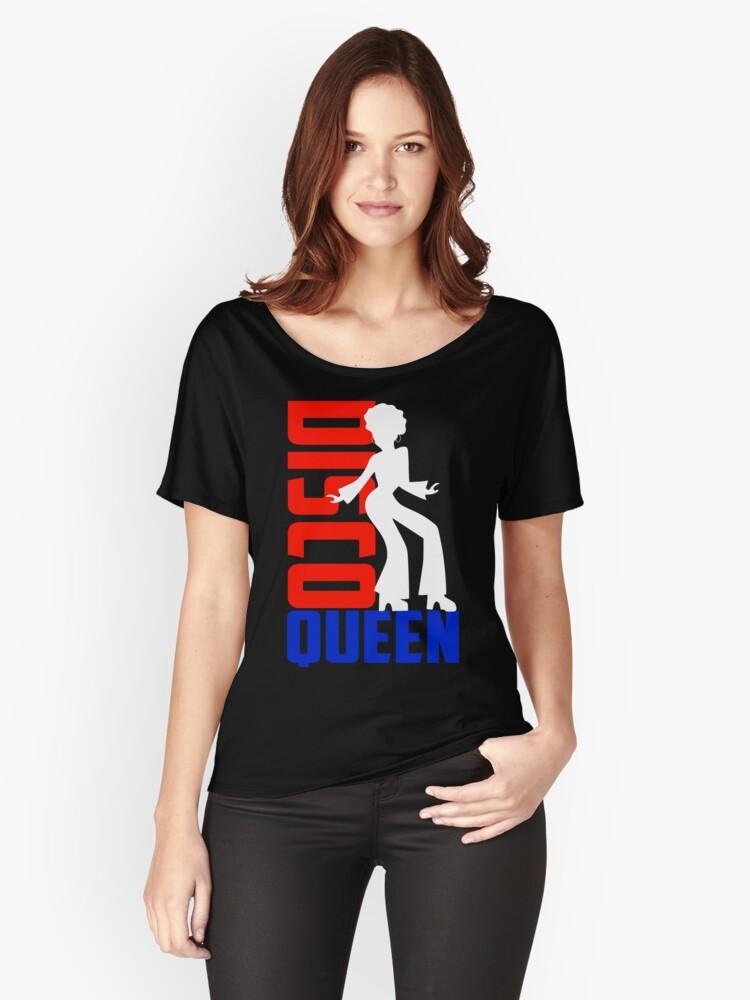 DISCO QUEEN Women's Relaxed Fit T-Shirt Front
