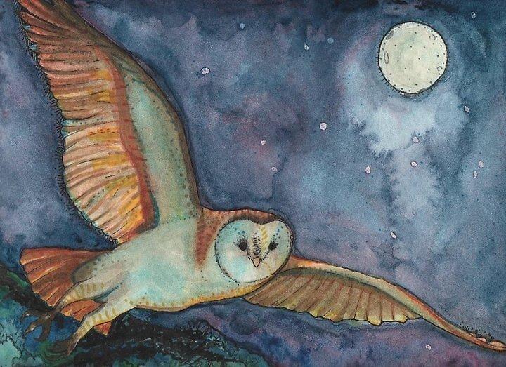Owl Flight by ProfessorBees