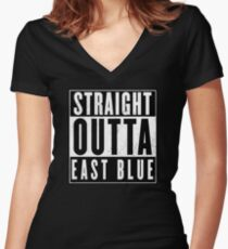 One Piece - East Blue Women's Fitted V-Neck T-Shirt
