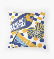 The College of New Jersey Collage Throw Pillow