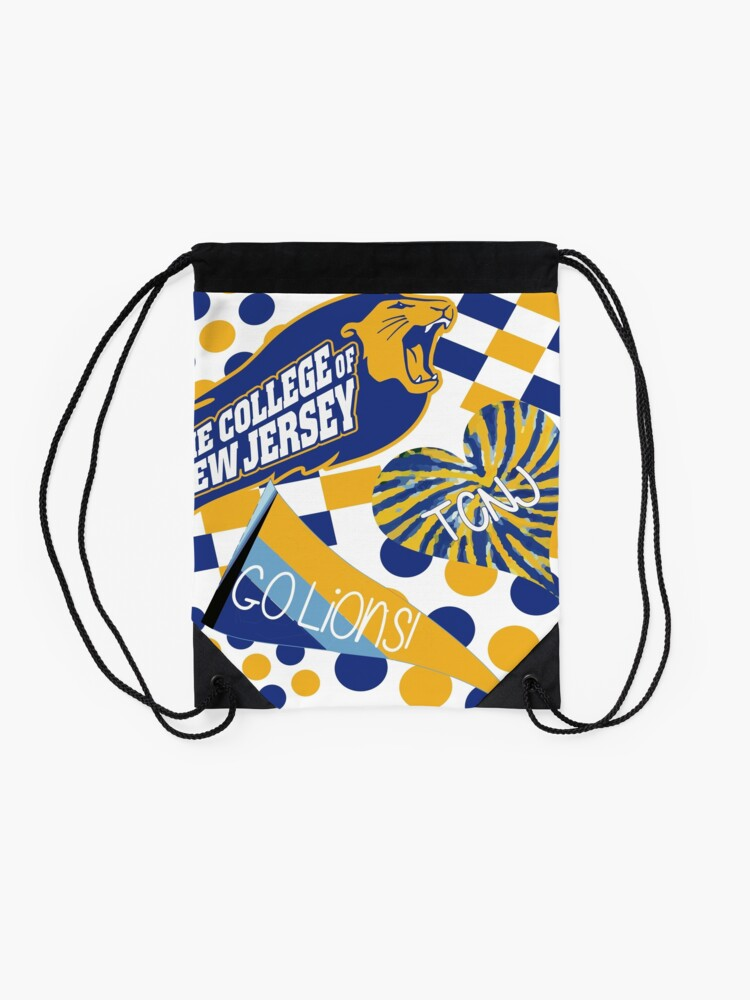 Alternate view of The College of New Jersey Collage Drawstring Bag