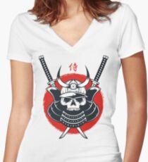 Honor of Samurai Women's Fitted V-Neck T-Shirt