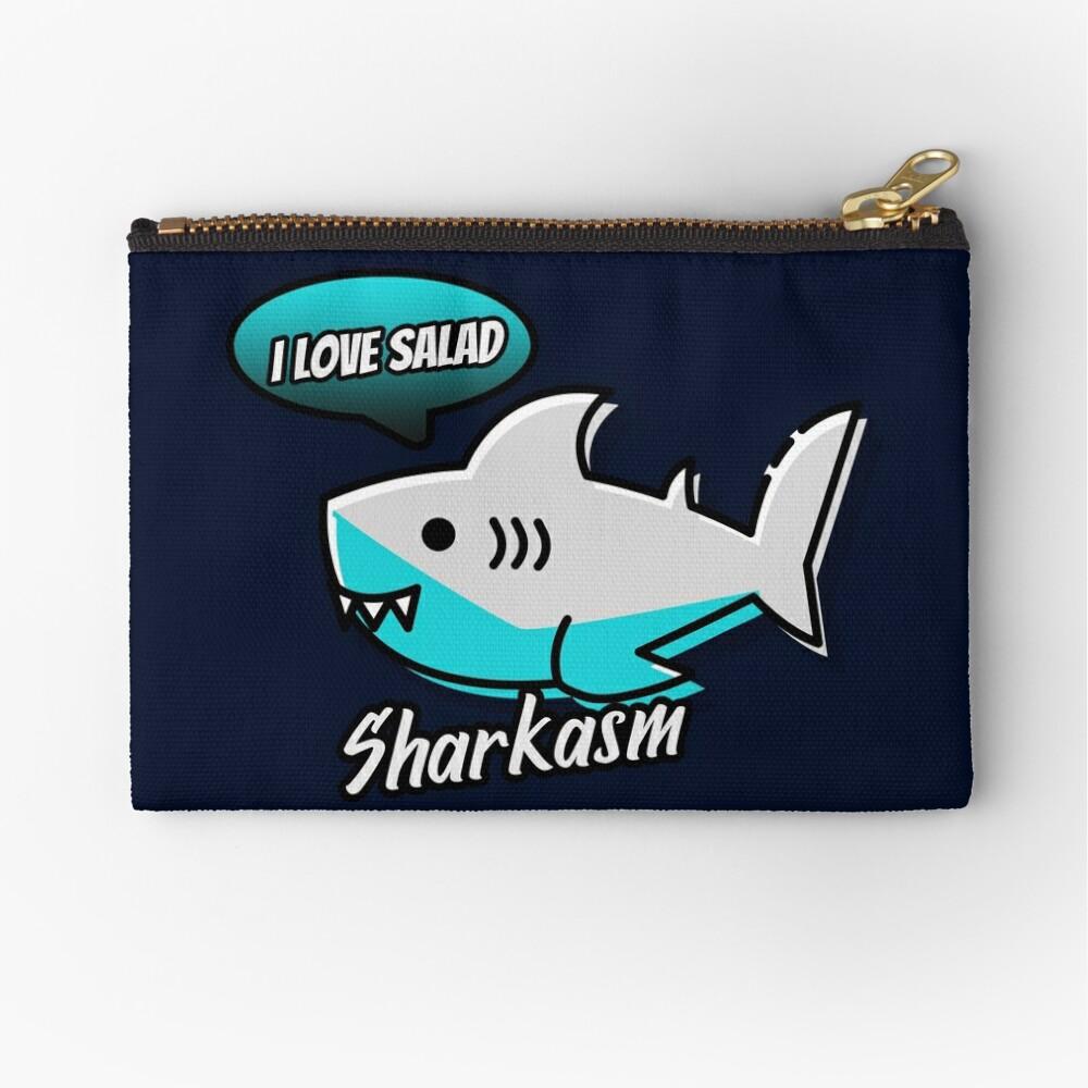 Sharkasm Zipper Pouch