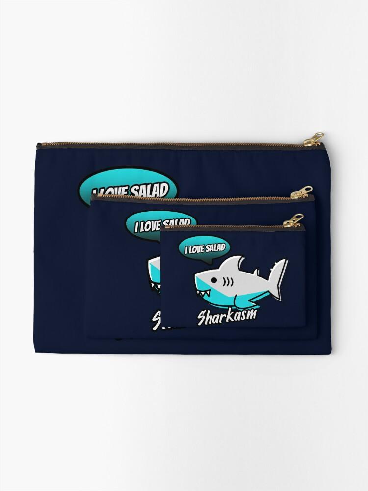 Alternate view of Sharkasm Zipper Pouch