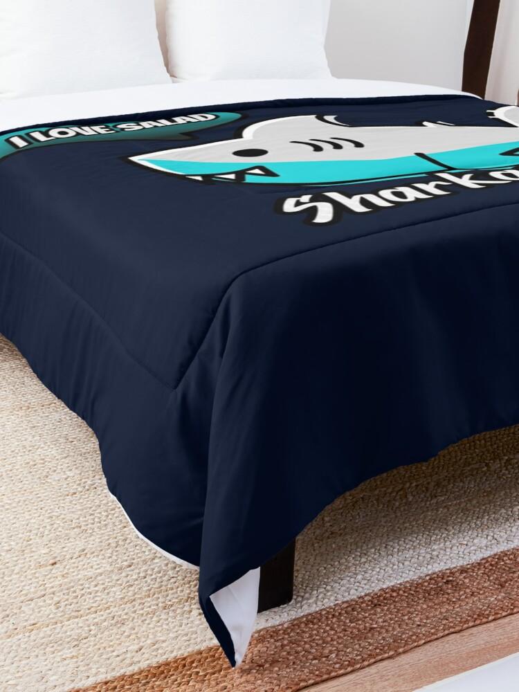 Alternate view of Sharkasm Comforter