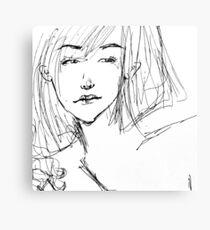 Ballpoint Girl Canvas Print