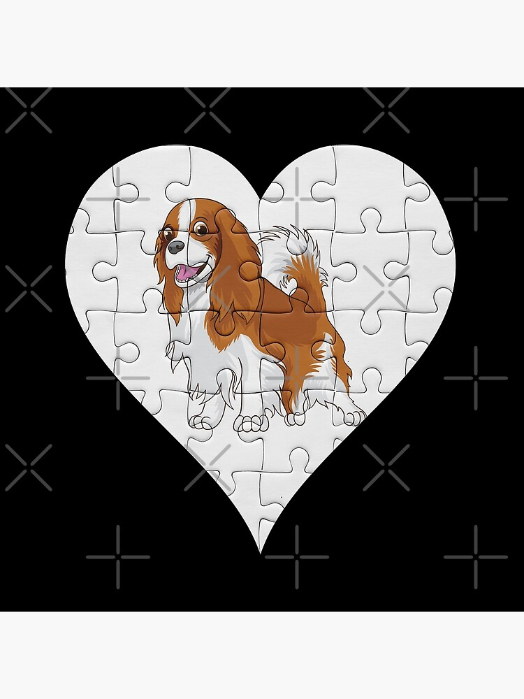 Cavalier King Charles Spaniel Heart Jigsaw Pieces Design - Cavie by dog-gifts